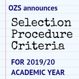 Selection Procedure Criteria for 2019/20 Academic Year