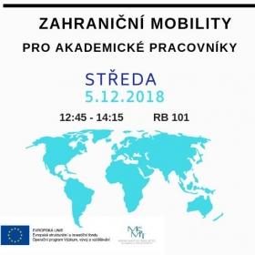 Zahraniční mobility: Informační schůzka pro akademické pracovníky VŠE (5.12.)