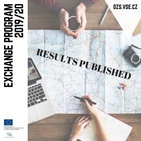 Zveřejnění výsledků výběrového řízení na bakalářské semestrální výměnné pobyty v zahraničí v LS 2020