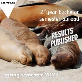 Zveřejnění výsledků přihlašování na bakalářské semestrální výměnné pobyty v zahraničí v LS 2022