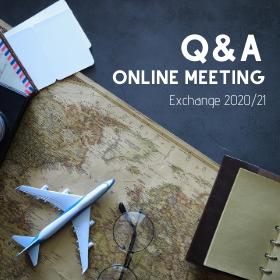 Q&A Online Meeting pro studenty vyjíždějící na semestrální výměnné pobyty do zahraničí v LS 2021