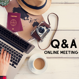 Online konzultační hodiny během podávání přihlášek na výměnné pobyty v zahraničí